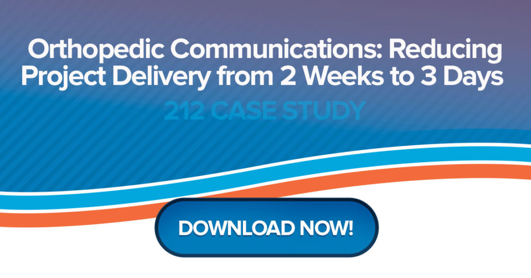 Orthopedic Communications: Reducing Project Delivery from 2 Weeks to 3 Days